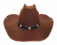 Leder Hutband - Hufeisen mit Pferdekopf