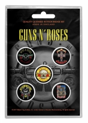 Button Set - Guns N Roses Bullet Logo