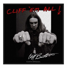 Cliff Burton Aufnäher Cliff 'em all