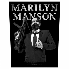 Marilyn Manson Rückenaufnäher 'Machine Gun'