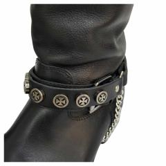 Schwarze Stiefelbänder mit Eisernen Kreuz Nieten
