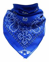XL Bandana Halstuch Blau Paisley