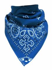 XL Bandana Halstuch Hellblau Paisley