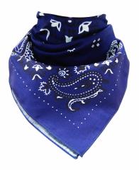 XL Bandana Halstuch Royalblau Paisley