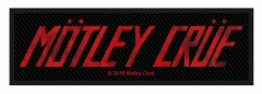 Mötley Crüe Aufnäher 'Logo'