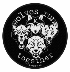 KING 810 Aufnäher - Wolves run together
