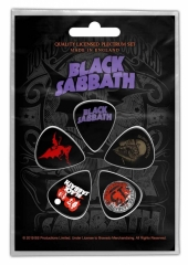 Black Sabbath Purple Logo Plektrum Pack