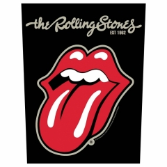 Rolling Stones Rückenaufnäher 'Plastered tongue'