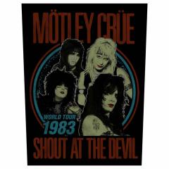 Mötley Crüe Rückenaufnäher 'Shout at the devil'