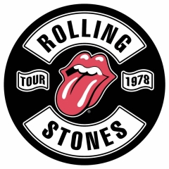 Rolling Stones Rückenaufnäher Tour 1978