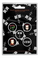 Button Pack - Marilyn Manson - Cross Logo