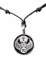 Kette mit Ankh-Skarabäus-Horus Symbolanhänger