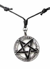Kette mit schwarzem Pentagramm