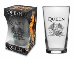 Trinkglas Queen Crest