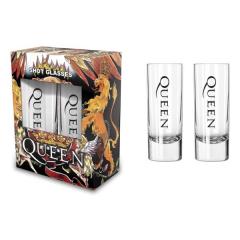 Shotglas - Schnapsglas - Queen - Crest
