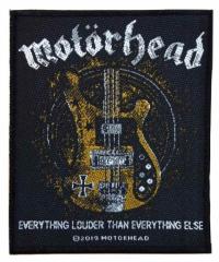 Motörhead - Lemmy's Bass - gewebter Aufnäher