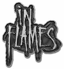 In Flames (Logo) - Pin Badge with Butterfly Clip