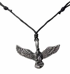 Halskette mit Anhänger Adler mit Schlange