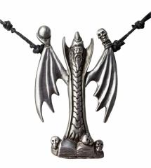 Halskette mit großem Drachen Anhänger