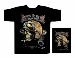 Biker T-Shirt Born to ride (Glow in the Dark)