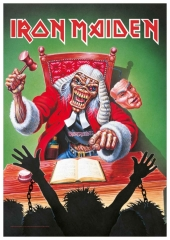 Posterfahne Iron Maiden Eddie the judge