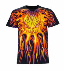 Biker T-Shirt Flammengesicht