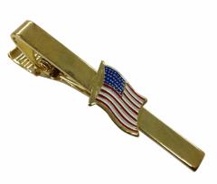 Krawattennadel aus Metall mit USA Flagge