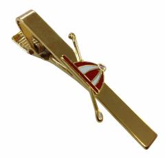 Krawattennadel aus Metall mit Roter Kappe