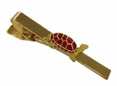 Krawattennadel aus Metall - Rote Schildkröte