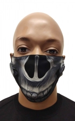 Face mask skull teeth