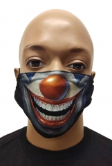 Face mask smiling clown