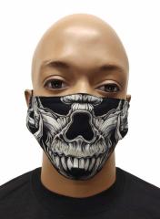 Gesichtsmaske Totenkopf Biest