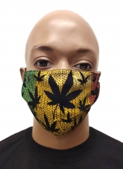 Face mask Cannabis Rastafari