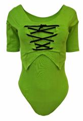 Damen Body mit Weste Grün