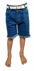 Kinder Shorts Jeans-Blau mit Fransen