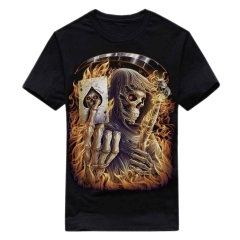 Biker T-Shirt Pik Ass Totenkopf (Glow in the Dark)
