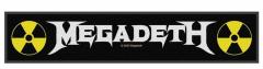 Megadeth Logo Superstrip Aufnäher