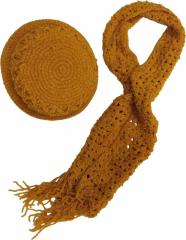 Schal Set - Ocker