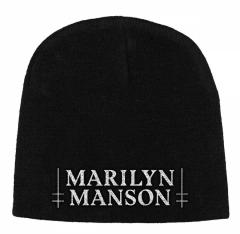 Marilyn Manson Logo Beanie Mütze