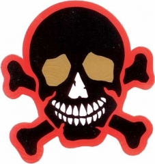 Aufkleber Happy skull