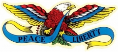 Aufkleber Peace & Liberty