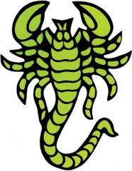 Aufkleber Skorpion Grün