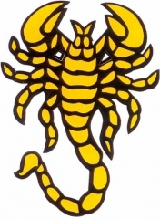 Aufkleber Yellow scorpion