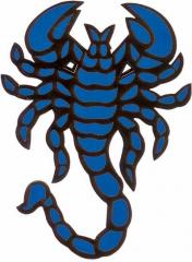 Aufkleber Skorpion Blau