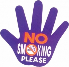 Aufkleber No smoking please