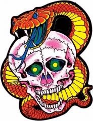 Aufkleber Skull & Snake