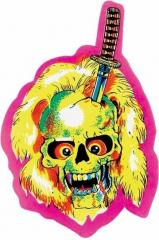 Aufkleber Yellow skull