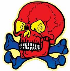 Aufkleber Furious skull