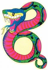 Aufkleber Snake