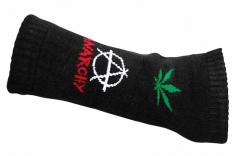 Armstulpen mit Anarchie Weed-Muster